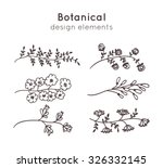 hand drawn decorative vector... | Shutterstock .eps vector #326332145