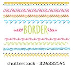 set of colorful hand drawn... | Shutterstock .eps vector #326332595