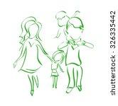 family  sketch  silhouette ... | Shutterstock .eps vector #326335442