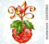 vector ribbon in the shape of... | Shutterstock .eps vector #326335862