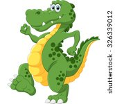 illustration of cute crocodile | Shutterstock . vector #326339012