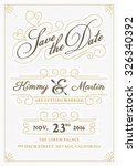vintage save the date card... | Shutterstock .eps vector #326340392