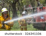 Fire Fighter In Protective...