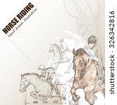 Illustration Of Horse Riding....