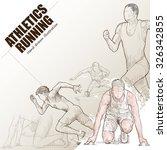 illustration of athlete running.... | Shutterstock .eps vector #326342855