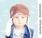 sweet little baby dreaming of... | Shutterstock . vector #326345432