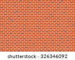 abstract red brick vector... | Shutterstock .eps vector #326346092