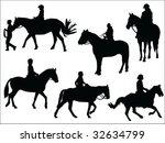 Horseback Riding Silhouettes...