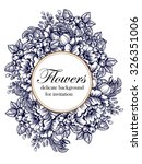 invitation with floral... | Shutterstock . vector #326351006
