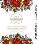 invitation with floral... | Shutterstock . vector #326351042