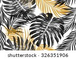 tropical palm leaves  jungle... | Shutterstock .eps vector #326351906
