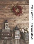 winter home decor. christmas... | Shutterstock . vector #326357162