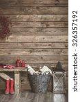 winter home decor. christmas... | Shutterstock . vector #326357192