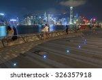 victoria harbor of hong kong | Shutterstock . vector #326357918
