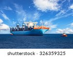 tugboats assisting container... | Shutterstock . vector #326359325