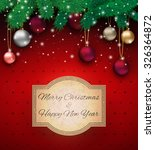 christmas card with colorful... | Shutterstock .eps vector #326364872