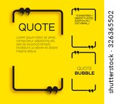 quote bubble. speech bubble.... | Shutterstock .eps vector #326365502