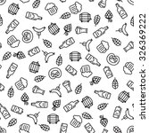 beer icons seamless pattern ... | Shutterstock .eps vector #326369222