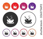 soup icon. hot soup icon. bowl... | Shutterstock .eps vector #326373692