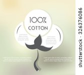 cotton label with place for... | Shutterstock .eps vector #326376086