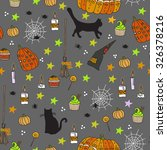 halloween seamless pattern.... | Shutterstock .eps vector #326378216