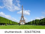 eiffel tower with blue sky in... | Shutterstock . vector #326378246