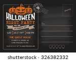 halloween party and costume... | Shutterstock .eps vector #326382332