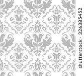 damask seamless ornament.... | Shutterstock .eps vector #326385452
