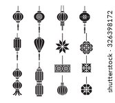 Chinese Lamp Lantern Vector Set
