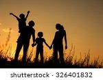 happy family standing in the... | Shutterstock . vector #326401832