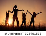 happy family standing near the... | Shutterstock . vector #326401838