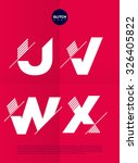 typographic alphabet in a set... | Shutterstock .eps vector #326405822