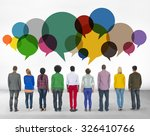 casual people message talking... | Shutterstock . vector #326410766