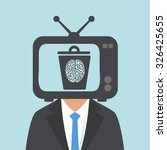 watching tv the human brain to... | Shutterstock .eps vector #326425655