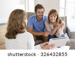 architect presenting a new... | Shutterstock . vector #326432855