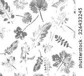 watercolor leaves pattern.... | Shutterstock .eps vector #326433245