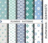 flower vector pattern pattern... | Shutterstock .eps vector #326441072