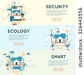 smart home  house technology...   Shutterstock .eps vector #326443556