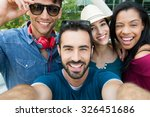 closeup shot of young friends... | Shutterstock . vector #326451686