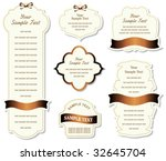 set of design elements   Shutterstock .eps vector #32645704
