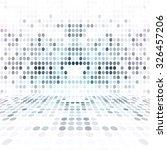 blue dot empty perspective... | Shutterstock . vector #326457206
