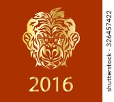 fair monkey 2016 year symbol...