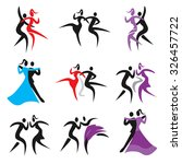 dancing icons. set of icons... | Shutterstock .eps vector #326457722