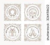 decorative flourishes line art... | Shutterstock .eps vector #326458622