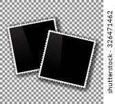 vector photo frames isolated on ... | Shutterstock .eps vector #326471462