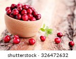 fresh and delicious cranberries ... | Shutterstock . vector #326472632