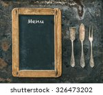 antique silver cutlery and... | Shutterstock . vector #326473202