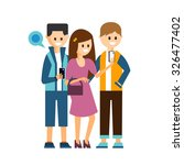 young boys and girl make a... | Shutterstock .eps vector #326477402
