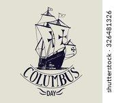 columbus day vector. santa...   Shutterstock .eps vector #326481326