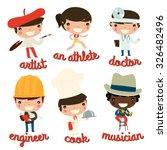 kids professions vector set....   Shutterstock .eps vector #326482496